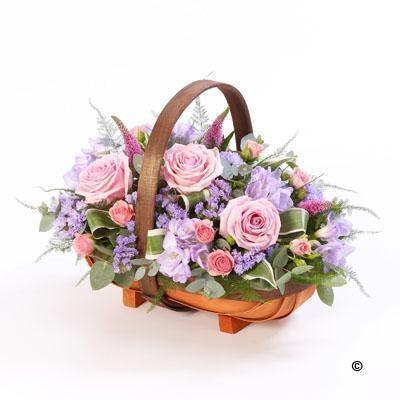 Mixed Basket   Pink and Lilac